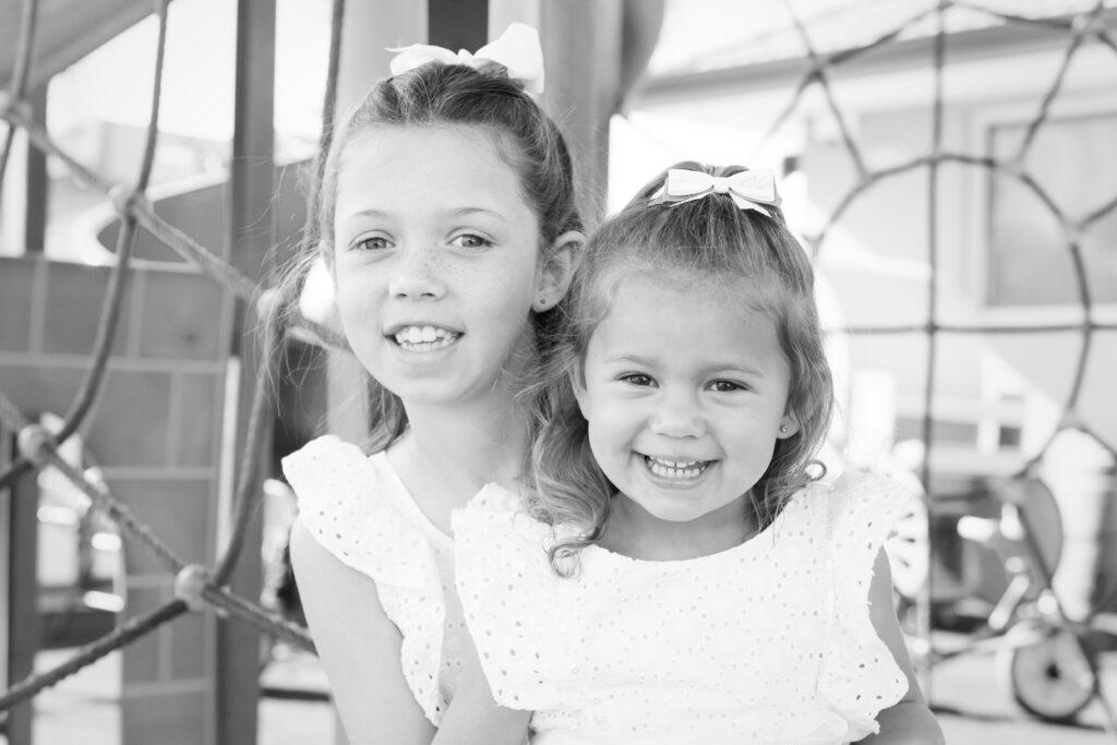 Zoe & Ava 12x8_BW